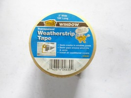 "MD 04630 Transparent Weatherstrip Tape 2"" wide 100' long New pack of 3 - $34.65"