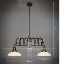 1950s Factory Scissor Pendant Double Light Ceiling Lamp Home Lighting Fixture - $372.32