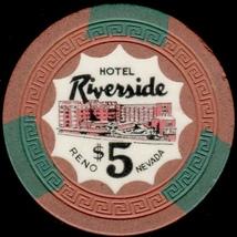 $5 Casino Chip. Riverside, Reno, NV. 1954. L34. - $12.50
