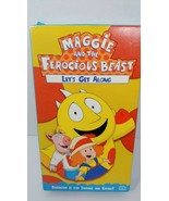Maggie and the Ferocious Beast Let's Get along VHS tape used works used - $8.90