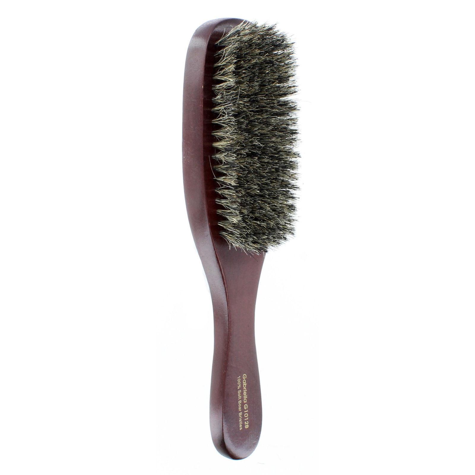 100% Pure Natural Soft Boar Bristle Wave Hair Brush Wood Handle Premium G1012B