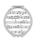 Music Sheet : Gift Compact Mirror Musician Classic Teacher White Melody - £9.44 GBP