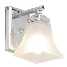 Progress Lighting Oasis Collection 5 in. 1-Light Polished Chrome Bath Sconce - $18.75