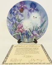 Garden Discovery Plate Lily Chang 1st Issue 1992 Petal Pals Collection Cats - $34.82