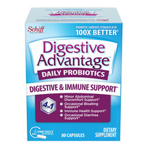 Schiff Digestive Advantage Daily Probiotic, 80 Capsules - $31.41