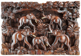 3D Wood Carvings Sculpture Wall Decoration Art - $499.00