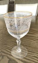 Fostoria Claret Renaissance Etched Gold Trim Water Wine Goblet Multiple Availble - $39.59
