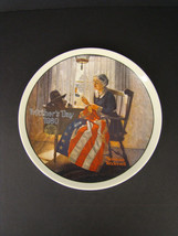 New KNOWLES Ltd. Ed Plate Mother's Day 1980 NORMAN ROCKWELL Flag Sewing ... - $15.00