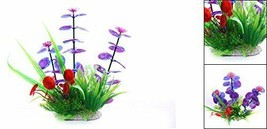 Uxcell Flower Aquarium Plastic Plants Fish Tank Ornament, 12cm New in Package image 2