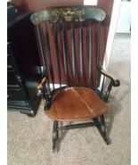 Vintage Signed Hitchcocks Rocking Chair Boston Rocking Chair - $198.00