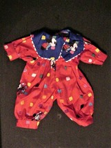 Vintage Minnie Mouse One Piece Doll Playsuit Multi-color - $7.95