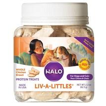Halo Liv-A-Littles Grain Free Natural Dog Treats & Cat Treats, Freeze Dr... - $11.84