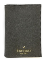 Kate Spade New York Mikas Pond Leather Passport Holder (Cliff Grey) - $64.95