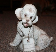 Vintage Arnart  Porcelain Sculpture *POODLE PUPPY* With COA     KPM Dog ... - $23.74