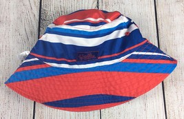 UV Skinz Toddler Sun Hat 4T Reversible Red White Blue Swim - $10.88