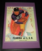 1937 LSU vs Florida Football Framed 10x14 Poster Official Repro - $46.39