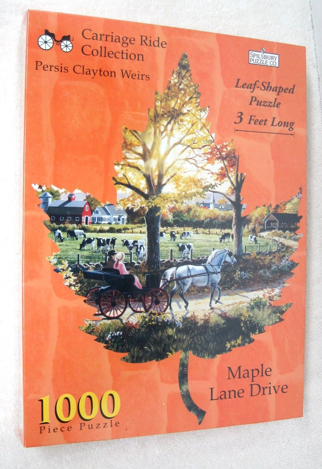 Primary image for NEW Jigsaw Puzzle 1998 Maple Leaf Drive Carriage Ride Collection 1000PC Spilsbur
