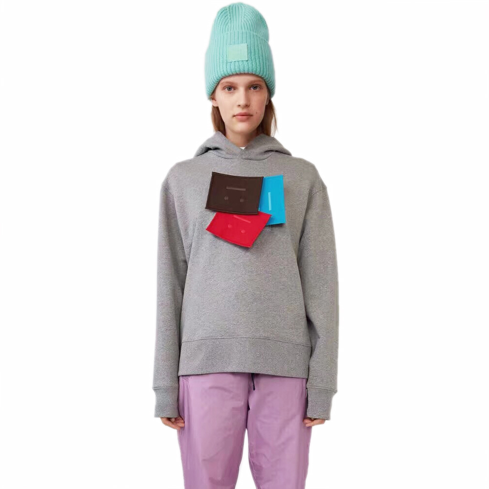 Acne studios face patch hoodie 1