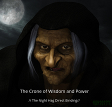 The Crone of Wisdom and Power  // The Night Hag Direct Binding //......haunted  - $155.00