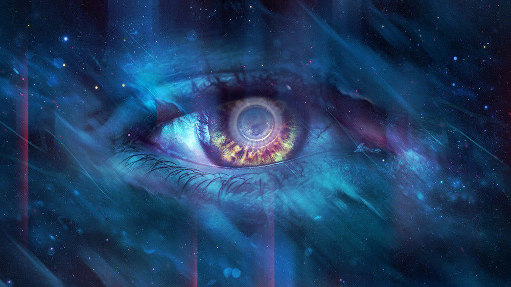 "Fantasy  Art Oil Painting Print On Canvas Modern Decor""Eye Of Universe""Framed"