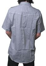 Dissizit! LA Liberty Black & White Gingham Short Sleeve Button Up Down Shirt NWT image 2