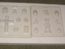 WILTON GREAT EGGS EASTER SETS I & II chocolate candy mold sheets   w/ins... - $9.50