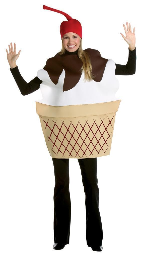 Ice Cream Sundae Costume Adult Food Dessert Sweets Halloween Party Unique GC7152