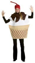 Ice Cream Sundae Costume Adult Food Dessert Sweets Halloween Party Uniqu... - $47.99