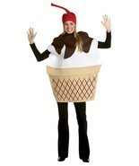 Ice Cream Sundae Costume Adult Food Dessert Sweets Halloween Party Uniqu... - ₹3,348.77 INR