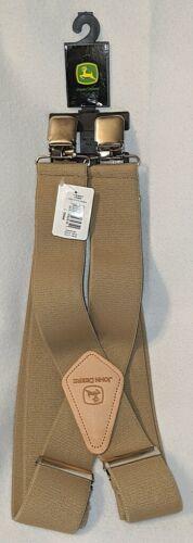 John Deere LP25946 Elastic Khaki Suspenders Size Large 46 Inches Long