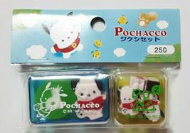 POCHACCO Eraser with Case SANRIO 1998' Old Retro Cute Rare - $26.75