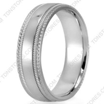 14K SOLID GOLD TWISTED MILGRAIN MENS WOMENS WEDDING BANDS RINGS LOW DOME... - $372.13