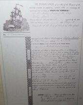 Framed 1854 Shipwreck Artifact Souvenir Delia Marie Hilton Head Brass Spike image 6