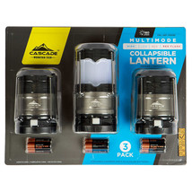 Brand New Cascade Mountain Tech Collapsible LED Lantern 3 pack - 180 Lumens - $26.99
