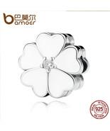 925 Sterling Silver WHITE PRIMROSE CLIP Charms for Charm Bracelet - $33.99