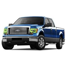FLASHTECH for Ford F-150 09-14 Green Single Color LED Halo Ring Headlight and Fo - $282.24