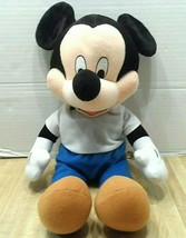 "Disney Mickey Mouse Plush 16"" Stuffed Animal Disneyland Theme Park Plushie  - $17.38"