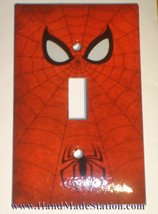 Spiderman Logo Light Switch Duplex Outlet Wall Cover Plate Home decor image 1