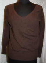Gap Brown 100% Cashmere V-neck Sweater womens S - $31.16