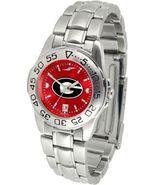 Georgia Bulldogs Womens Ladies Steel Sport AnoChrome Watch - $78.38