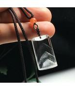 Phantom Clear Crystal Quartz Pendant Necklace Reiki healing L080547 - $55.39