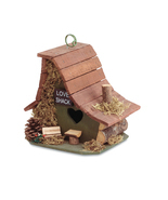 Birdhouse: Rustic Love Shack Hanging Wood Cabin Bird House with Clean Ou... - $412,84 MXN