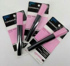 Covergirl Total Tease Waterproof Mascara Very Black Make-up Lot of 3 New - $17.80