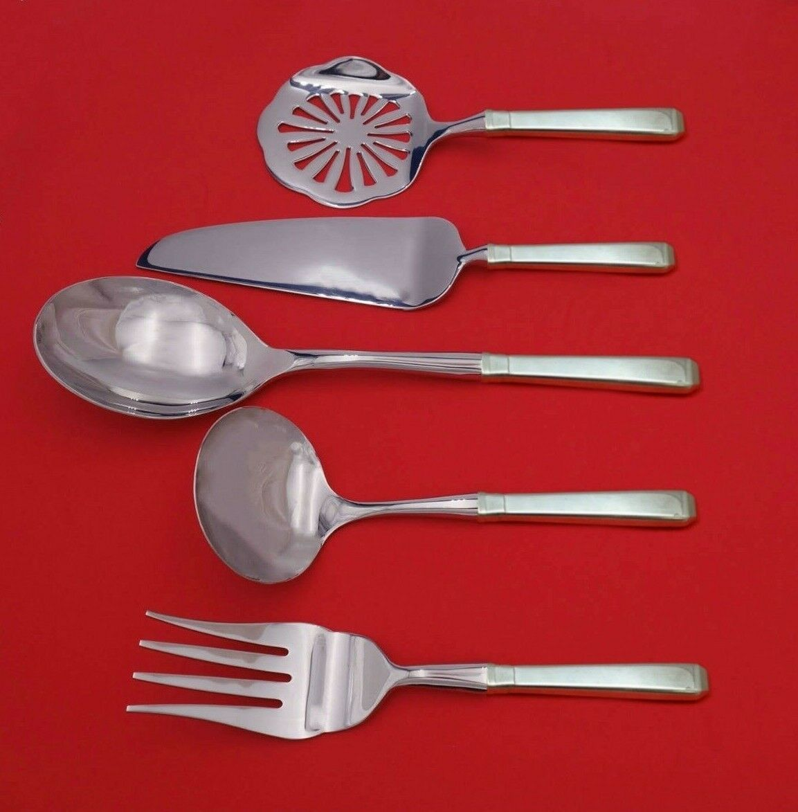 Primary image for Craftsman by Towle Sterling Silver Thanksgiving Serving Set 5-Piece Custom Made