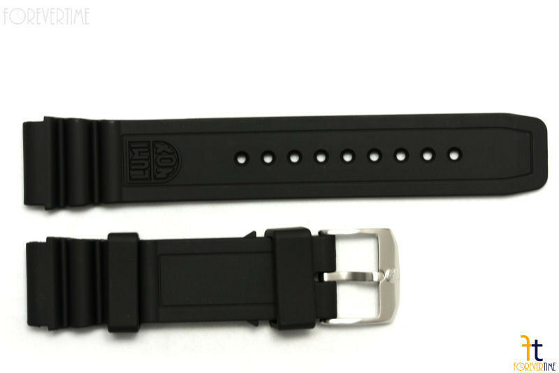 Original Luminox 3100 3200 Navy Seal F-117 22mm Schwarz Gummi Uhrenarmband 8400