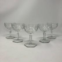 5 - Vintage Glassware Mid Century Fostoria AMERICAN Champagne Coupes Glasses - $42.57