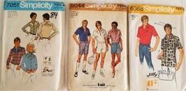#84, Lot of 3 Vintage Men's Patterns, cut - $9.99