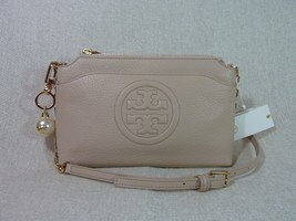 NWT Tory Burch Light Oak Bombe Chain Cross Body Bag + Pearl Logo Keyfob ... - $374.22