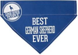 "Best German Shepherd Ever Bandana New Blue Slip On Over Collar 12""x8"" La... - $11.87"