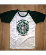 Women New T Shirt Starbucks Coffee S size Casual Trendy Tee 100% COTTON ... - $14.99